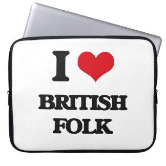 I Love BRITISH FOLK Laptop Computer Sleeves