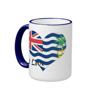 I Love British Indian Ocean Ringer Mug