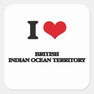 I Love British Indian Ocean Territory Square Sticker