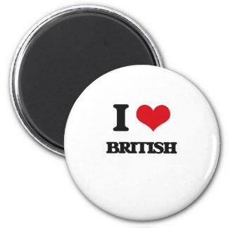 I Love British Fridge Magnets