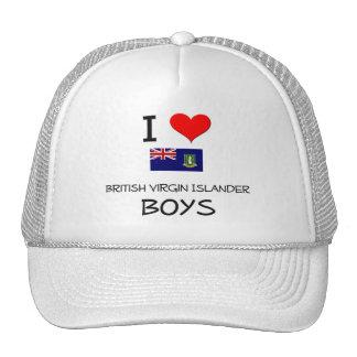 I Love British Virgin Islander Boys Mesh Hat