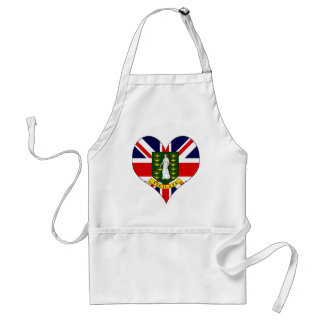 I Love British Virgin Islands Apron