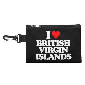I LOVE BRITISH VIRGIN ISLANDS ACCESSORY BAGS