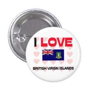 I Love British Virgin Islands Pinback Button