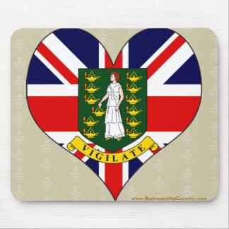 I Love British Virgin Islands Mouse Pads