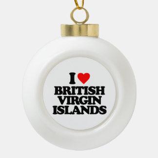I LOVE BRITISH VIRGIN ISLANDS ORNAMENTS