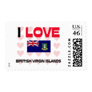 I Love British Virgin Islands Postage Stamps