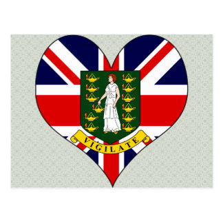 I Love British Virgin Islands Postcard