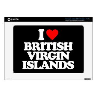 I LOVE BRITISH VIRGIN ISLANDS SAMSUNG CHROMEBOOK DECALS