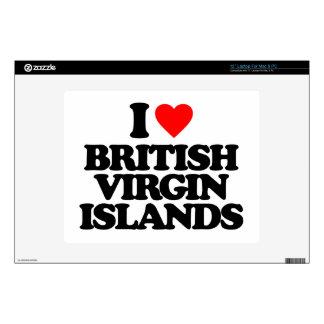 I LOVE BRITISH VIRGIN ISLANDS LAPTOP SKINS