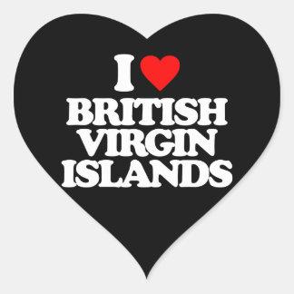 I LOVE BRITISH VIRGIN ISLANDS HEART STICKER