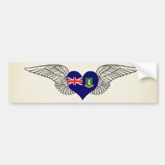 I Love British Virgin Islands -wings Car Bumper Sticker