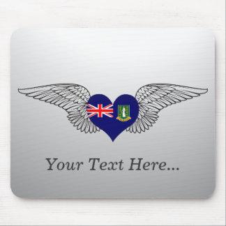 I Love British Virgin Islands -wings Mouse Pad
