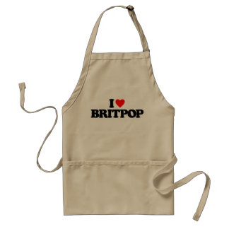 I LOVE BRITPOP ADULT APRON