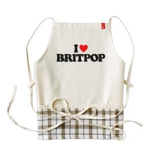 I LOVE BRITPOP ZAZZLE HEART APRON