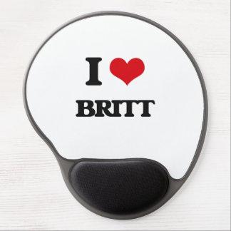 I Love Britt Gel Mouse Pad