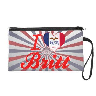 I Love Britt, Iowa Wristlet Clutches