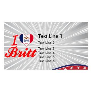 I Love Britt, Iowa Business Card