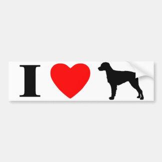 I Love Brittany Spaniels Bumper Sticker