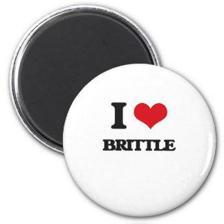 I Love Brittle Fridge Magnets