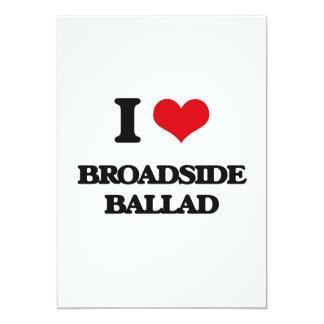 I Love BROADSIDE BALLAD 5x7 Paper Invitation Card