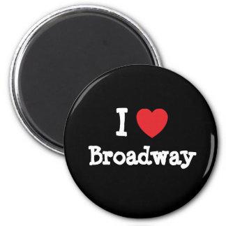 I love Broadway heart custom personalized Magnets