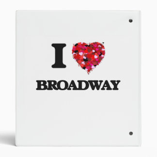 I love Broadway New Jersey 3 Ring Binder