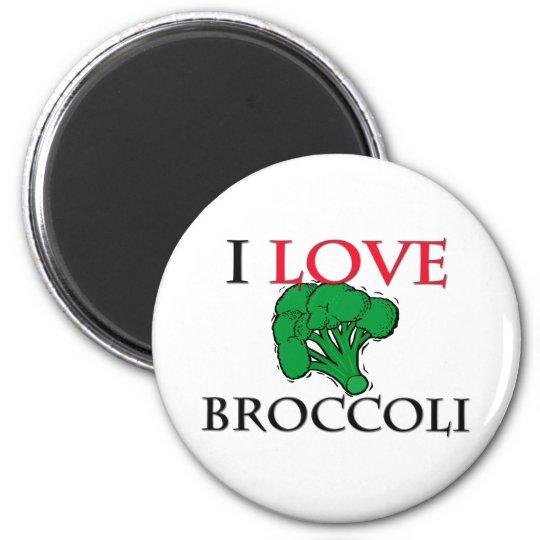 I Love Broccoli 2 Inch Round Magnet