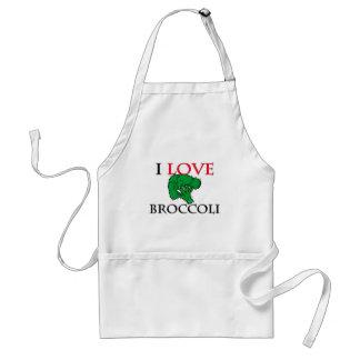 I Love Broccoli Adult Apron