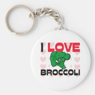 I Love Broccoli Basic Round Button Keychain