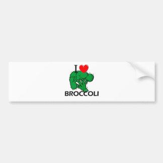 I Love Broccoli Car Bumper Sticker