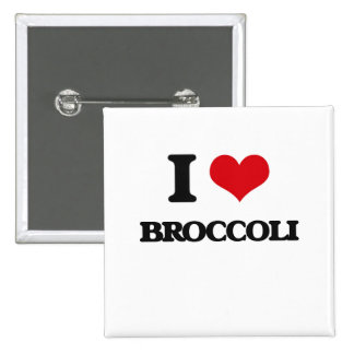 I Love Broccoli Buttons