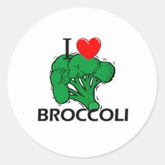 I Love Broccoli Classic Round Sticker