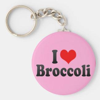 I Love Broccoli Keychain