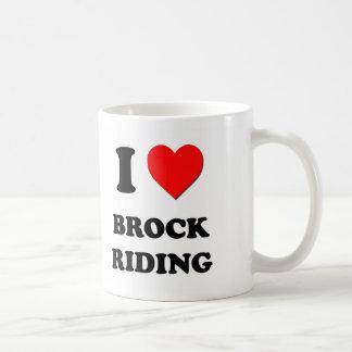 I Love Brock Riding Coffee Mugs