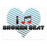 I Love Broken Beat Postcard