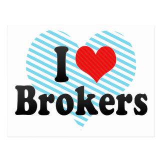 I Love Brokers Post Card