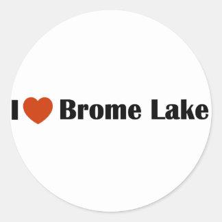 I Love Brome Lake Classic Round Sticker