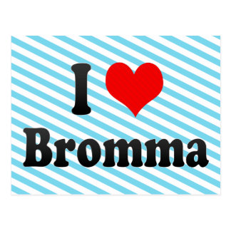 I Love Bromma, Sweden Postcard