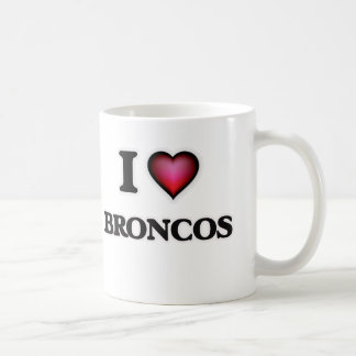 I Love Broncos Coffee Mug