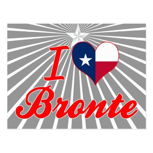 I Love Bronte, Texas Post Card