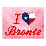 I Love Bronte, Texas Postcard