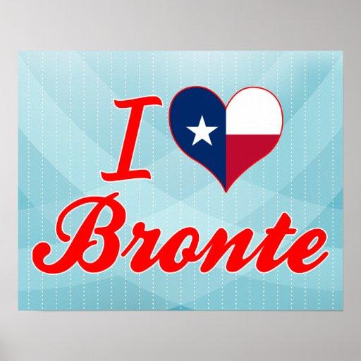I Love Bronte, Texas Poster