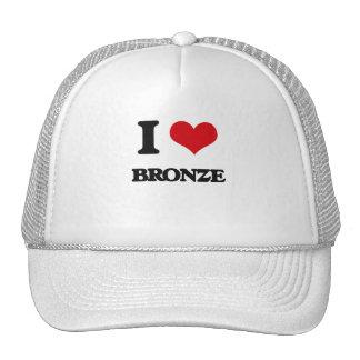 I Love Bronze Trucker Hat