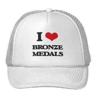 I Love Bronze Medals Mesh Hat