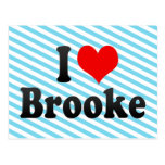 I love Brooke Postcard