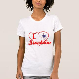 I Love Brookline, Massachusetts Tee Shirts