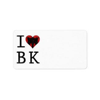 I Love Brooklyn, BK New York Custom Address Label