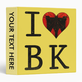 I Love Brooklyn BK NYC Binder