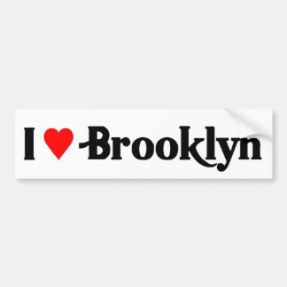 I love Brooklyn Bumper Sticker